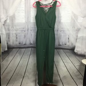 Ethereal by Paper Crane Green Full Jumpsuit S